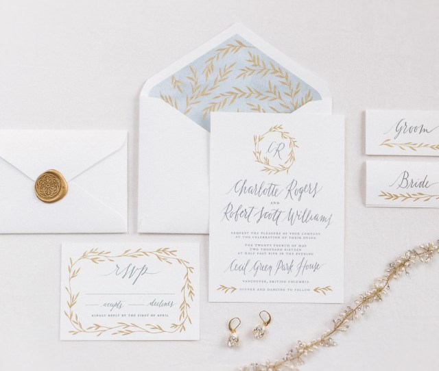 Bespoke Wedding Invitation Suite With Modern Calligraphy