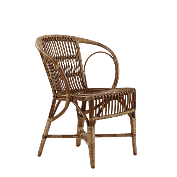 Wengler Polished Antique Wicker Chair