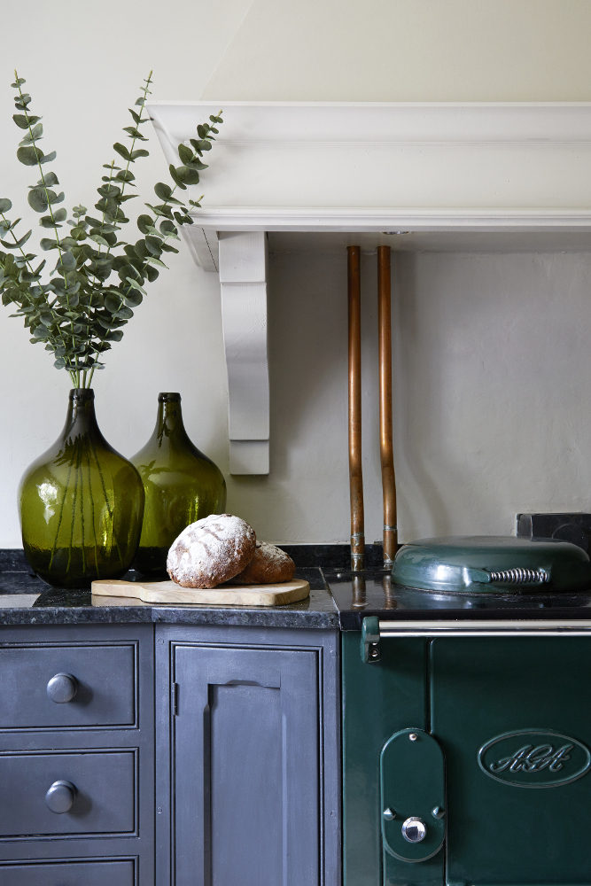 Little Greene Paint Colours: Lamp Black and Portland Stone