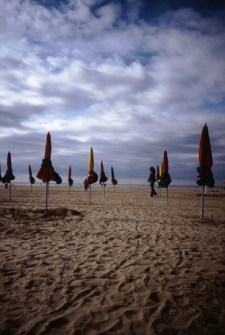The beach at Deauville, France