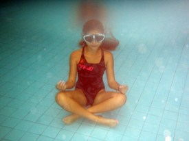 Alix swimming