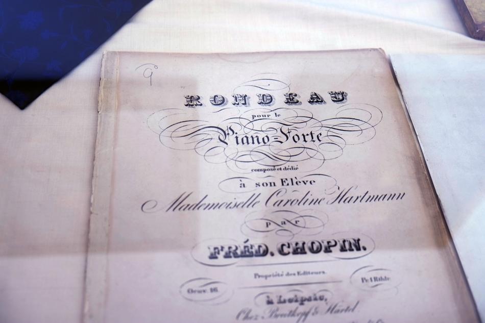 Partituras de Chopin, Real Cartuja Valdemossa.