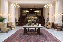 The Lobby at the Raffles Hotel in Singapore