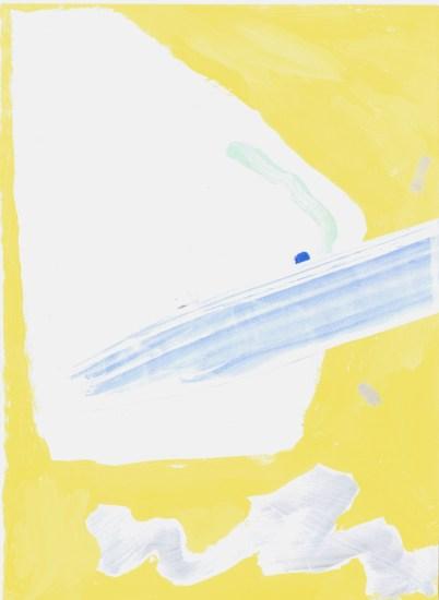 gouache sur papier jaune 1