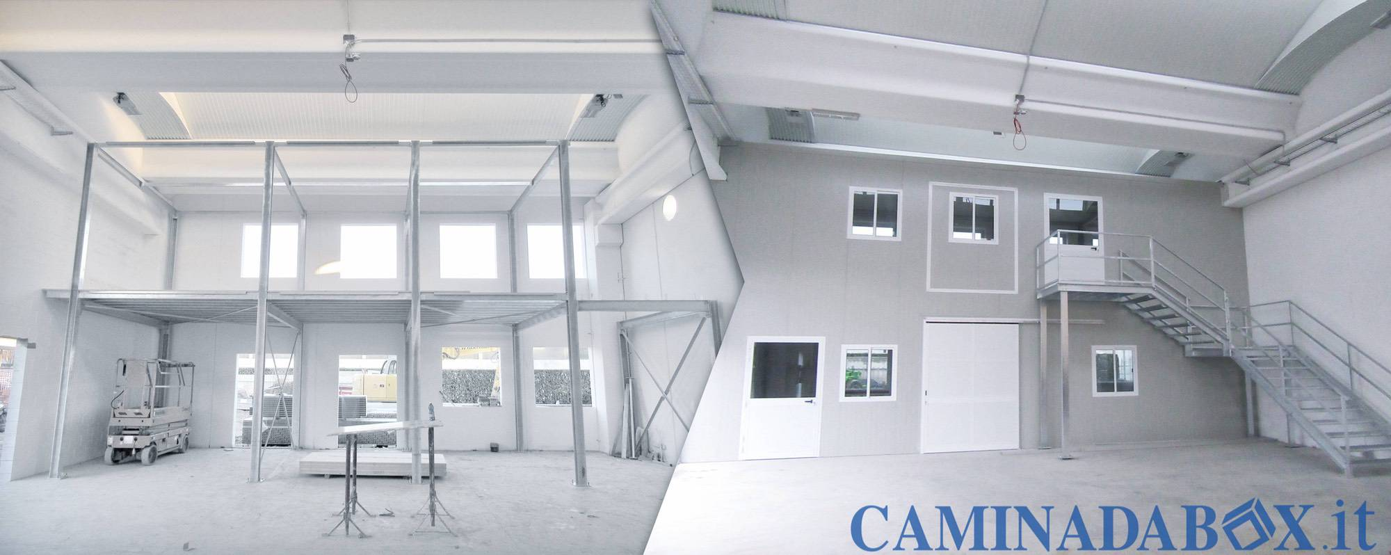 box uffici prefabbricati su due piani