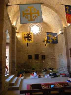 Cizur Minor 11 albergue 11 church part inside back