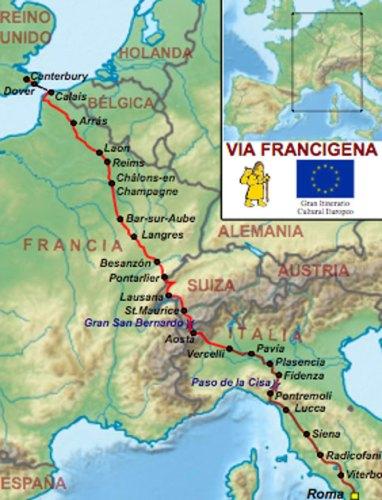 via francigena map