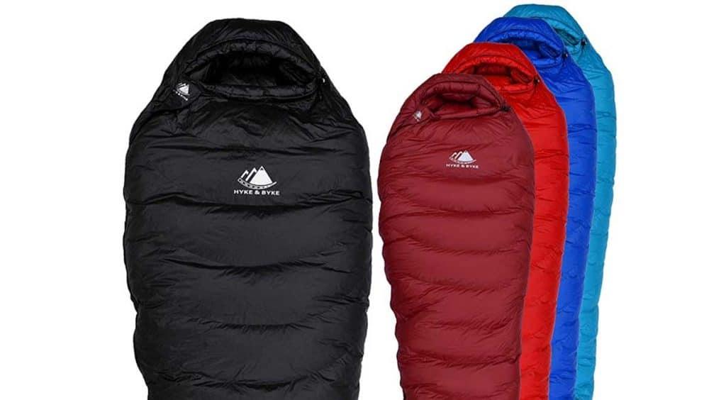 Hyke & Byke Snowmass 0 Degree F winter Down Sleeping Bag with ClusterLoft Base - Ultra Lightweight 4 Season