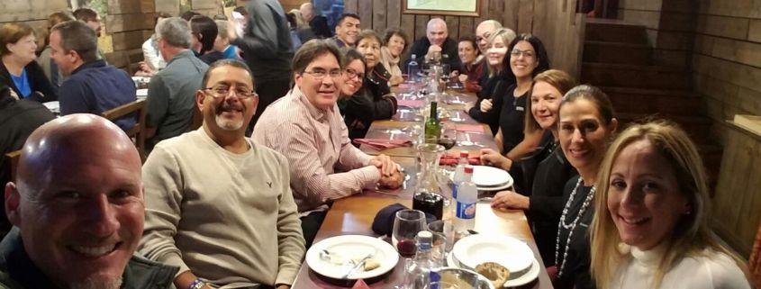 Camino de Santiago organizado en grupo cena