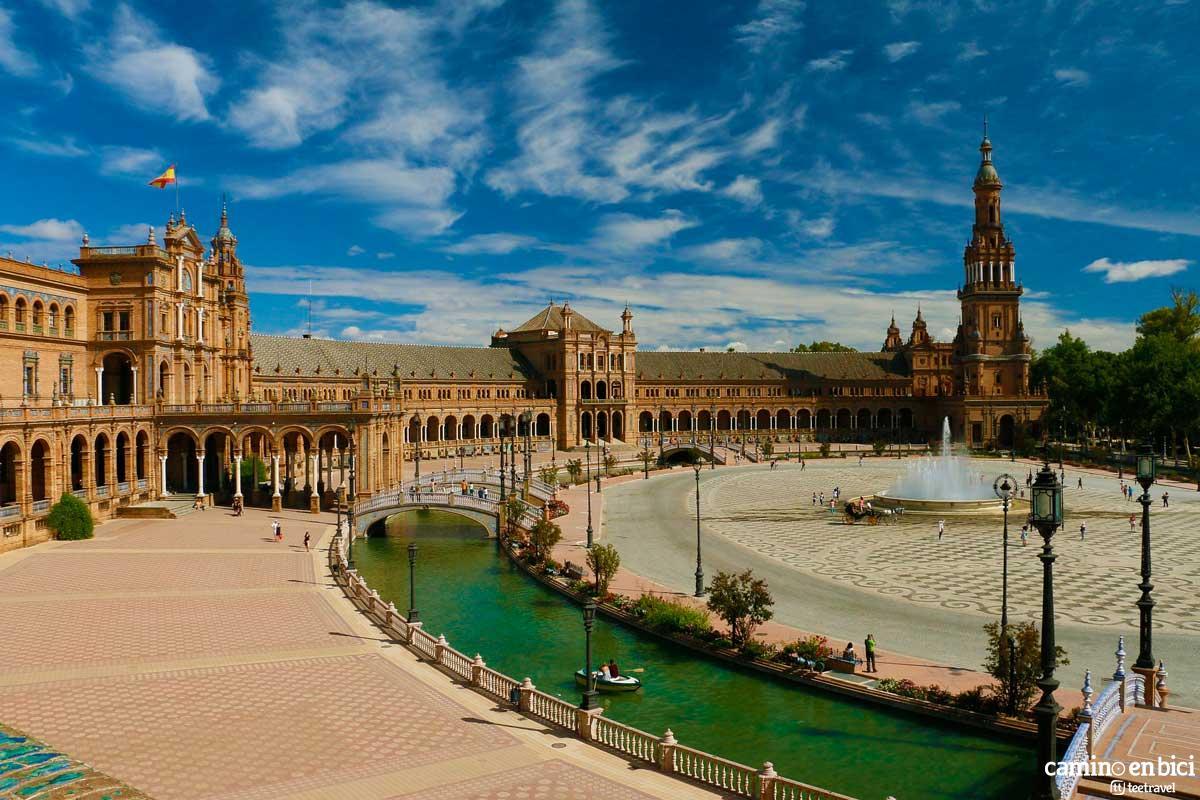Sevilla - Plaza de España - Vía de la Plata