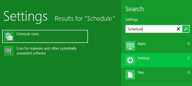 Buscar el Schedule tasks