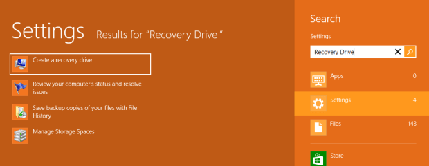Create recovery disc