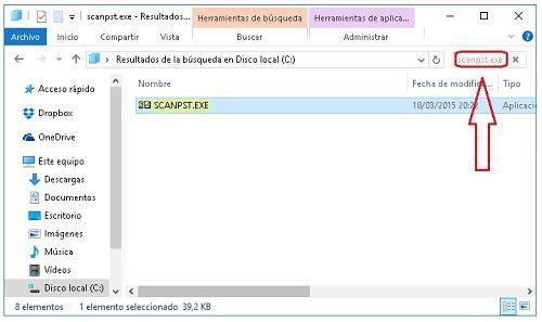 Ejecutar scanpst.exe para solucionar problemas con Outlook