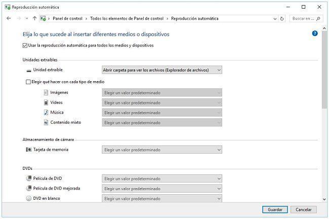 desactivar autorun en Windows 7/ 8/ 10
