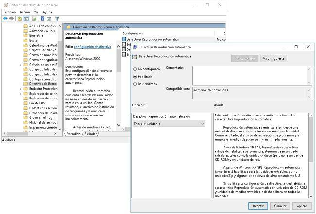 Desactivar reproducción automática en Windows 10/ 8/ 7