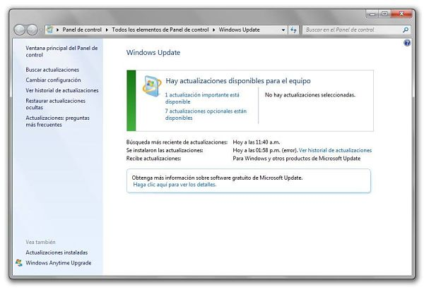 Solucionar Error 80070103 de Windows Update