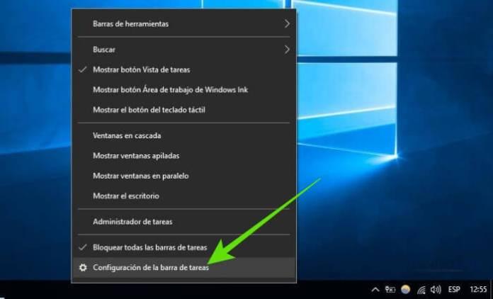 Cómo ocultar la barra de tareas en Windows 10 automáticamente