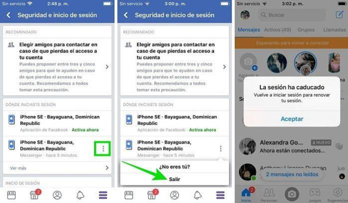 Cómo cerrar sesión en Messeger en el iPhone y Android