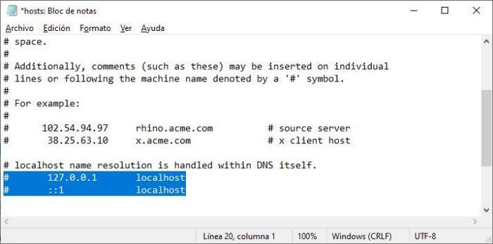 Bloquear paginas de Internet por host de Windows