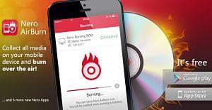 Nero AirBurn programa para grabar dvd y cd desde Android e iOS