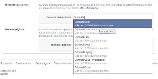 Bloquear solicitudes de juegos para Facebook