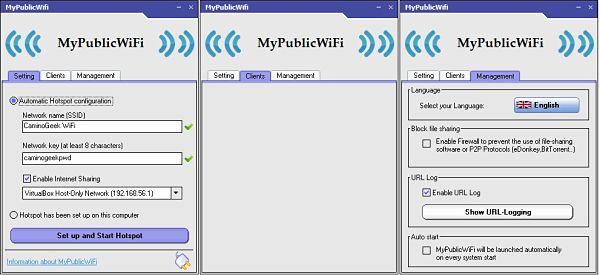Compartir Internet de tu laptop/PC con otros dispositivos o personas con MyPublicWiFi