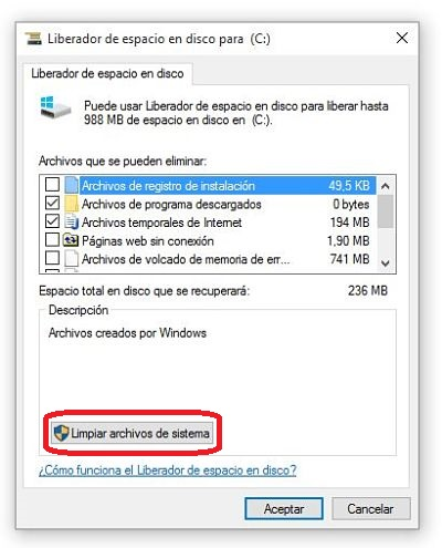 Liberar espacio des hasta 30 GB de disco duro en Windows 10