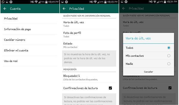 Tips y trucos de WhatsApp: ocultar última conexión