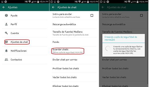 Tips y trucos de WhatsApp: Backup y respaldo de conversaciones