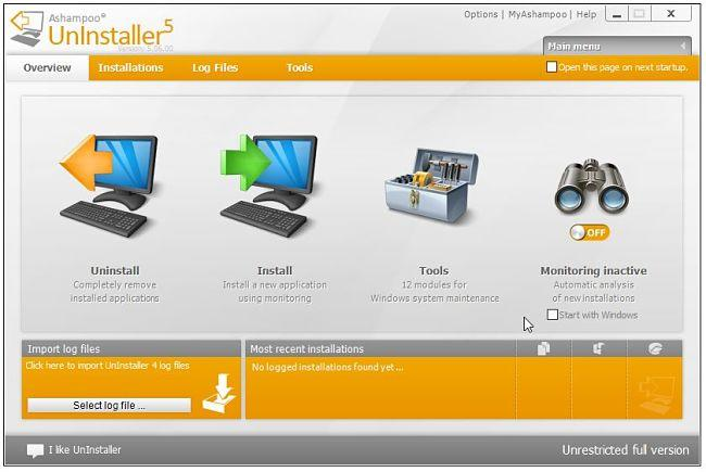 Ashampoo Uninstaller 5 gratis para desintalar y eliminar residuos de programas desintalados