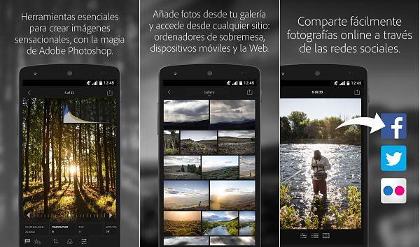 Adobe Photoshop Lightroom - Aplicación para editar fotos en Android gratis