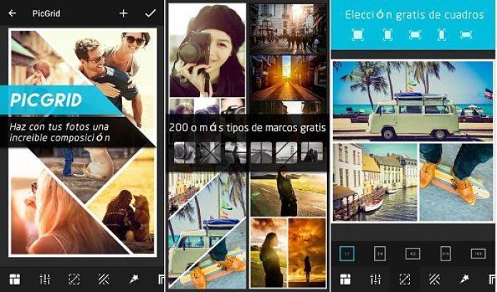 PicGrid una app para hacer collage de fotos en Android