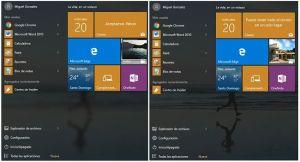 Cómo aumentar transparencia del menú Inicio y la Barra de Tareas en Windows 10