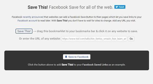 Enviar cualquier URL a tu lista de guardados en Facebook