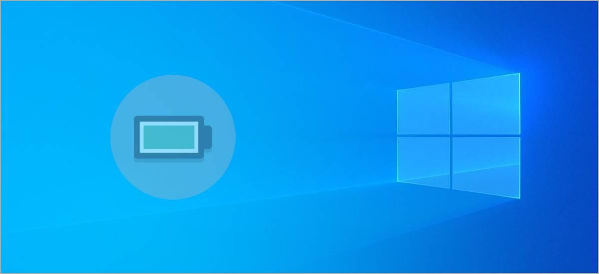 Prolongar duración de la carga de batería en Windows 10