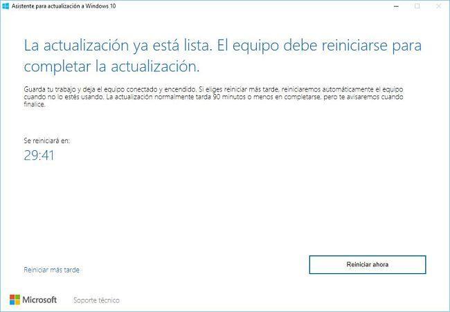 Instalar actualización aniversario de Windows 10