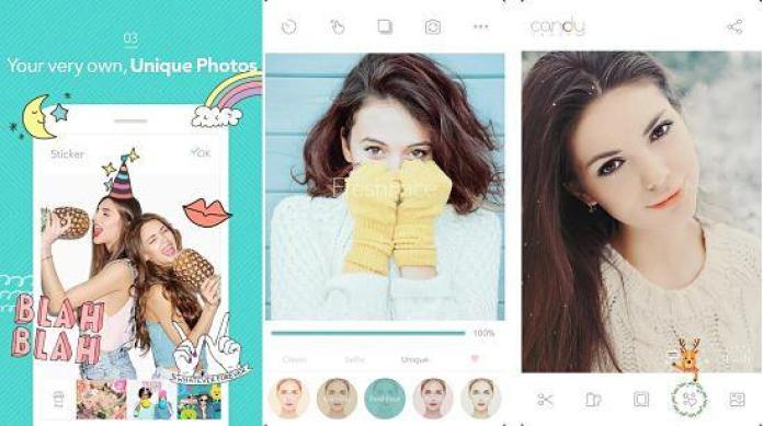 Candy Camera es de las mejores aplicaciones para tomar fotos selfies impresionantes.