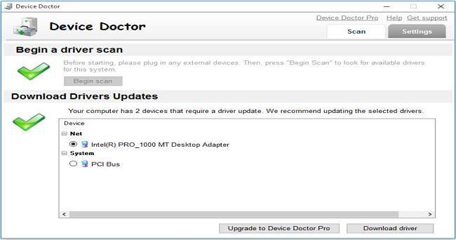 Device Doctor: otro buen programa para buscar drivers