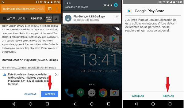 Descargar e instalar Google Play Store en Android