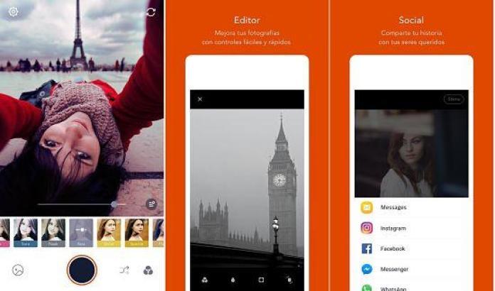 Retrica: mejores aplicaciones para tomar fotos selfies perfectas entu dispositivo Android.