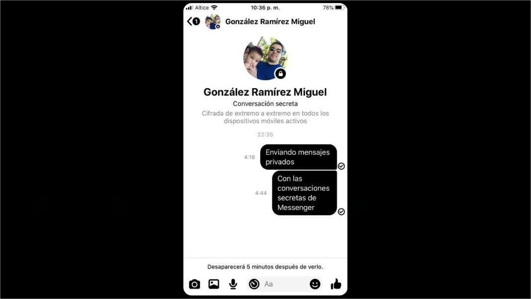 Usar las conversaciones secretas en Facebook Messenger