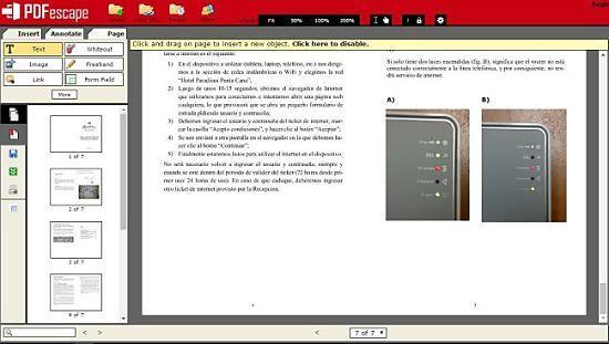 PDFescape: uno de los mejores servicios para editar archivos PDF online