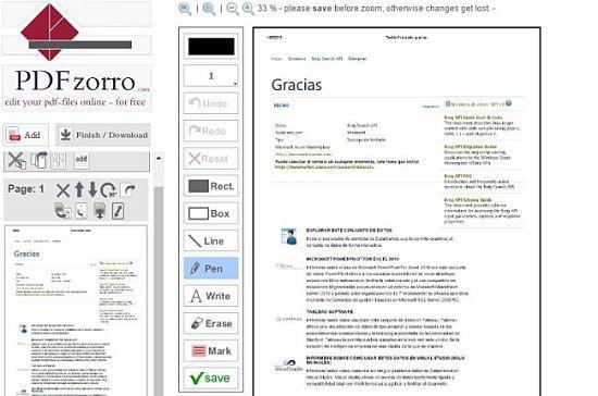 PDFzorro: uno de los mejores servicios para editar archivos PDF online