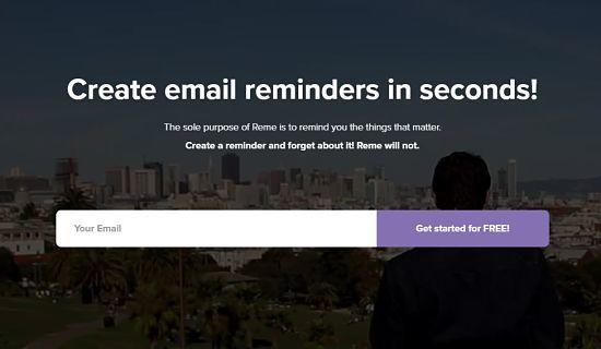 Crear recordatorios de correo rápidamente con Reme.IO