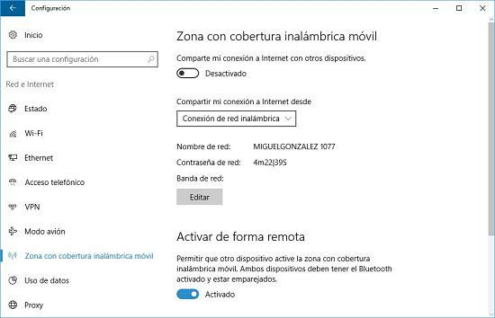 Cómo compartir Internet en Windows 10 con otros dispositivos.