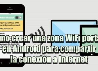 Crear un hotspot o zona WiFi portátil para compartir el Internet desde tu teléfono Android