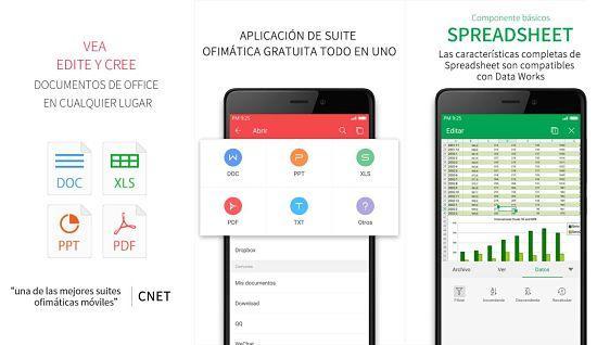 WPS Office es una de las mejores aplicaciones ofimáticas para Android