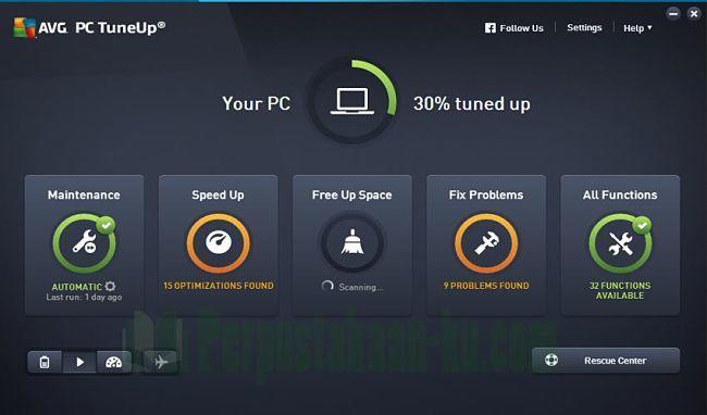 AVG PC TuneUp para afinar tu sistema y mejorar el rendimiento de Windows 10