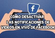 Desactivar las notificaciones de videos en vivo de Facebook