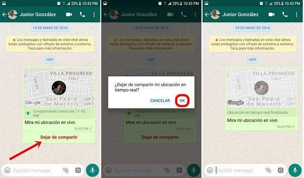 Cómo activar ubicación en WhatsApp